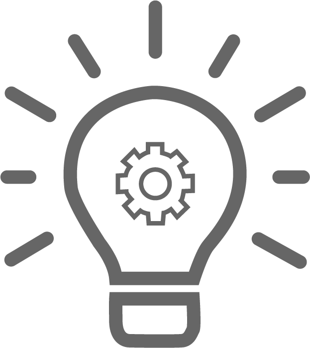 icon representing light bulb