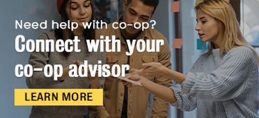 need help with co-op? Connect with your co-op advisor