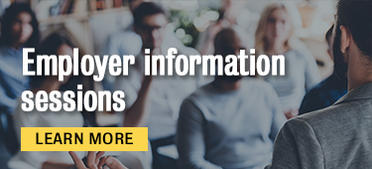 Employer information sessions. Learn more.
