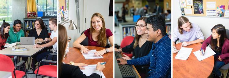 Waterloo students engaging in career building with advisors and peers