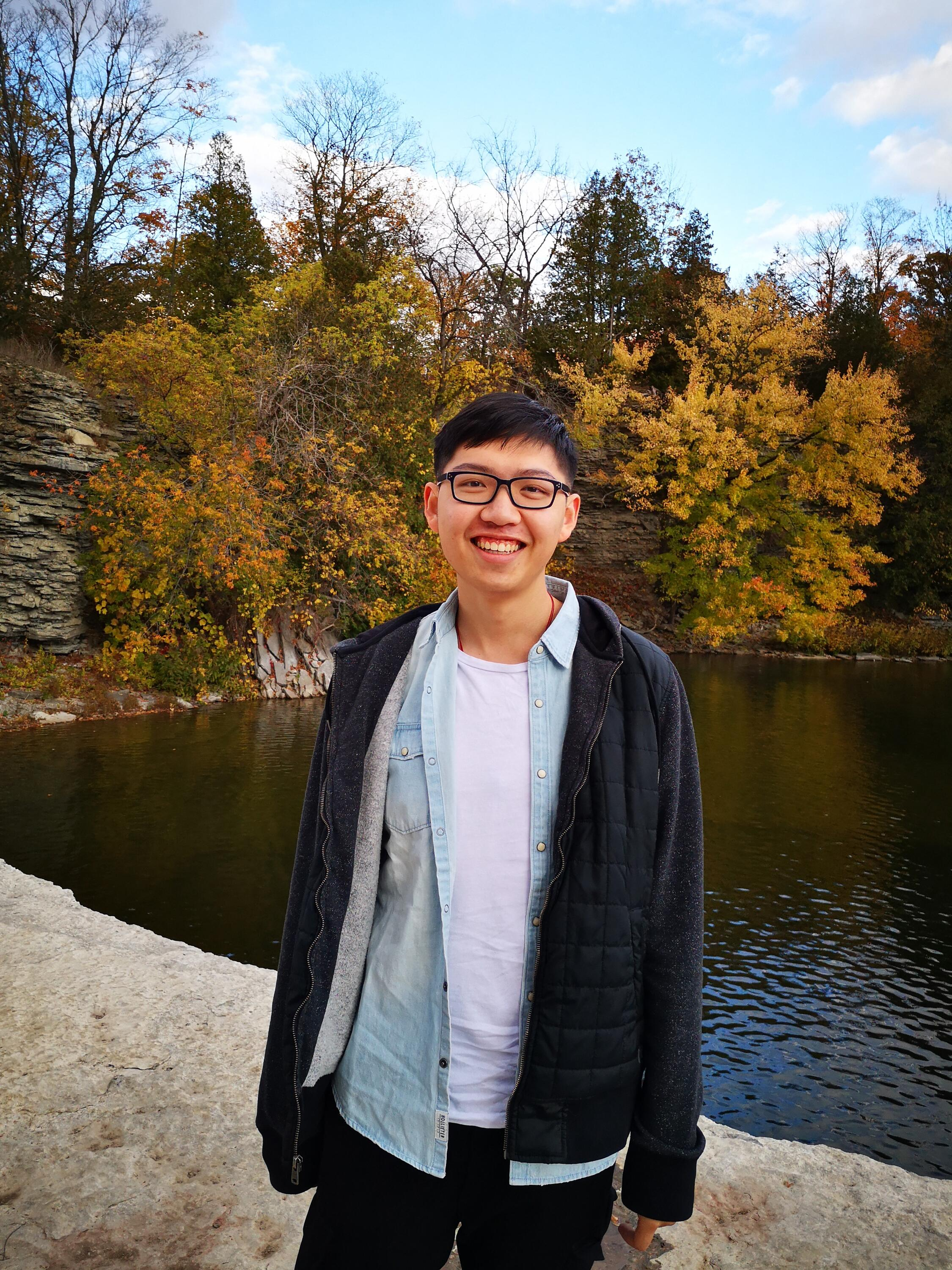 """""""University of Waterloo Math Coop student, Erik Liang spending time with nature"""