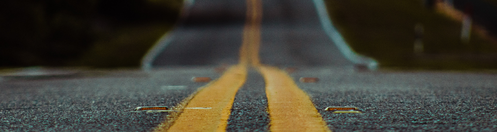 A photo of an empty road