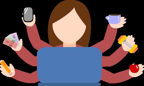 graphic of multitasking