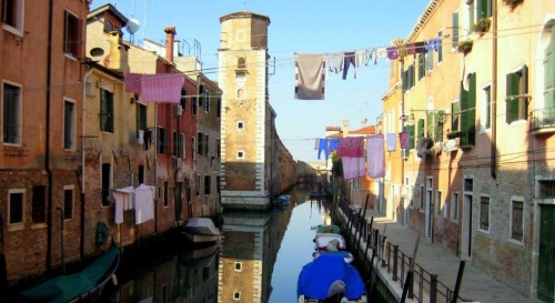 photo of a canal in Venice