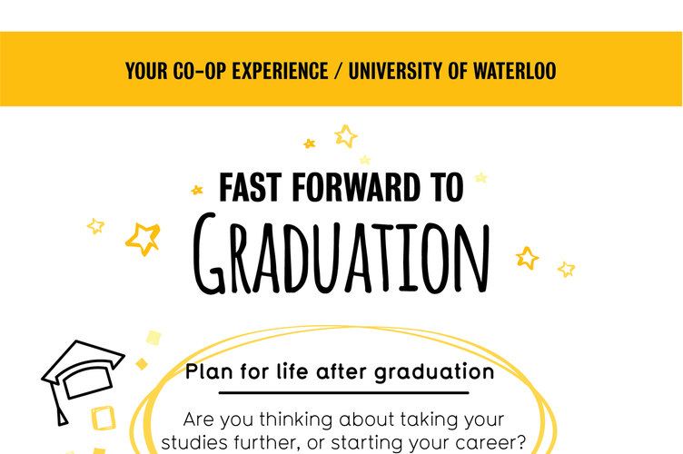 Graphic shows what to expect when you're about to graduate