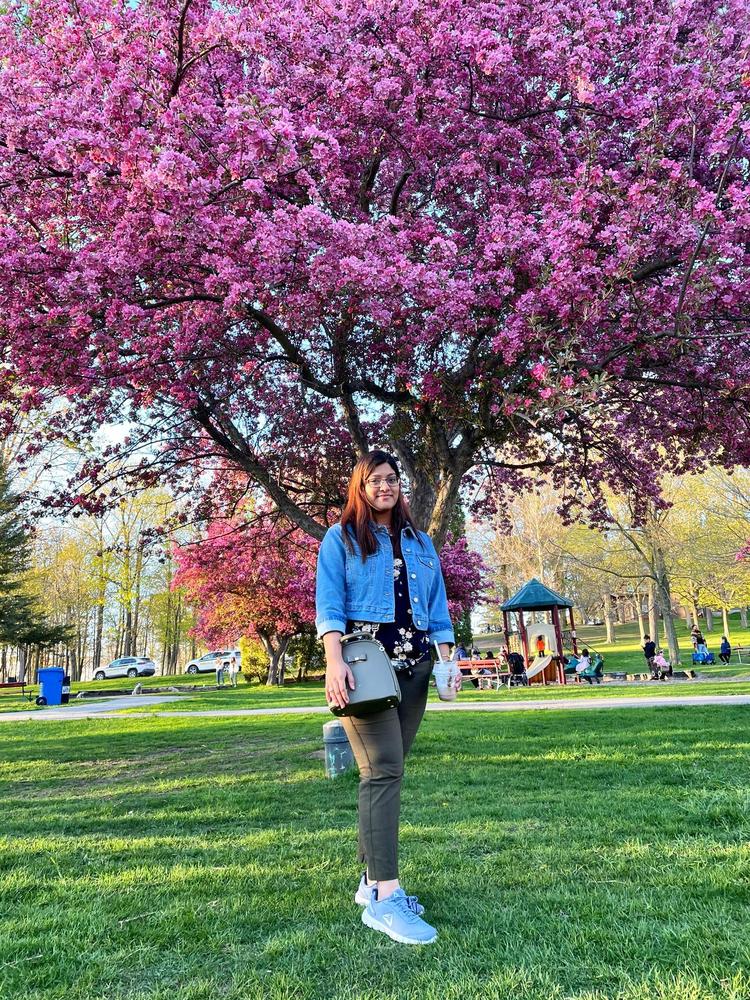 Priyanka spending time in a park