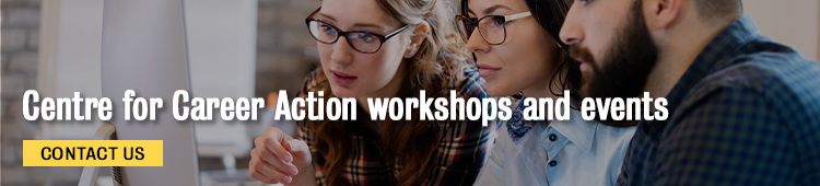 Centre for Career Action Workshops and events