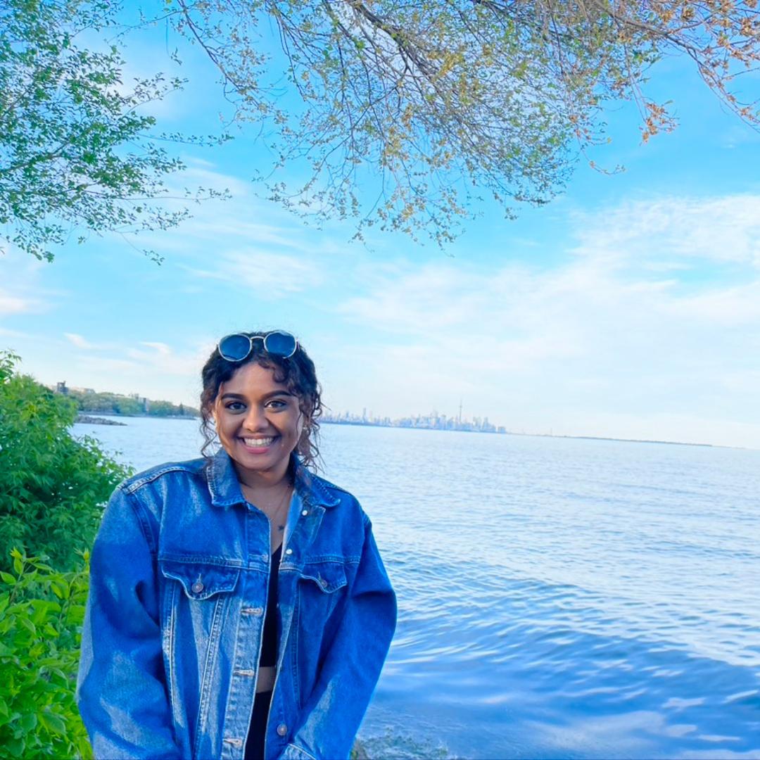 Nickie smiling at lakekshore beach
