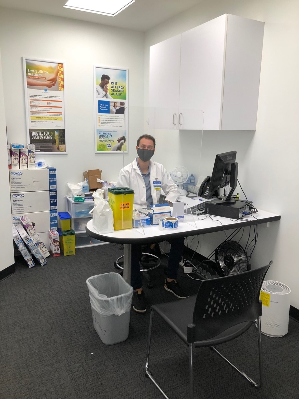 Max working at his office