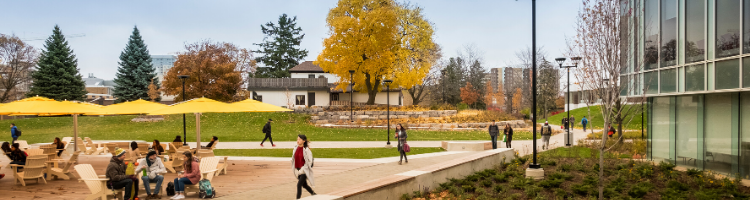 View of the Tatham Centre during the Fall