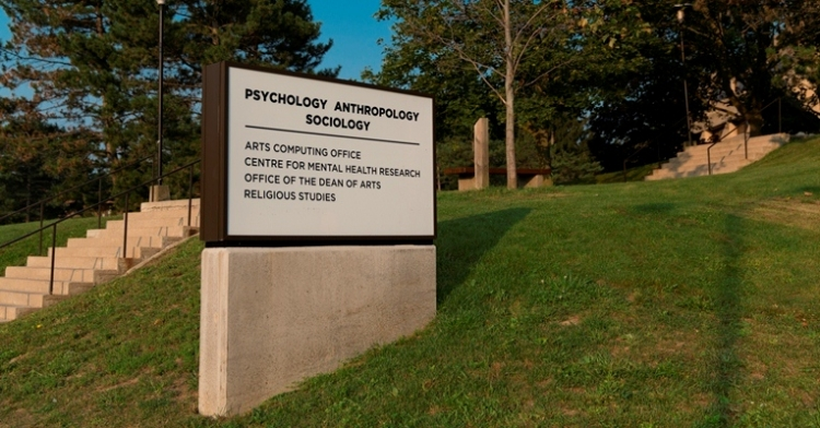 Entrance to Psychology, Anthropology, and Sociology Building