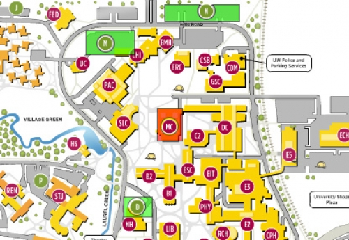 Campus map highlighted.