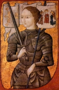 Portrait of Joan of Arc.