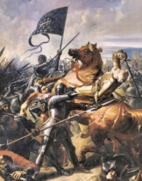 Painting of the Battle of Castillon.