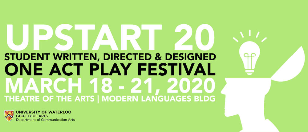 poster graphic for UpStart festival production