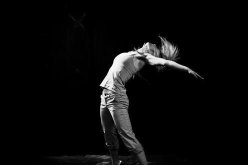 A woman dances