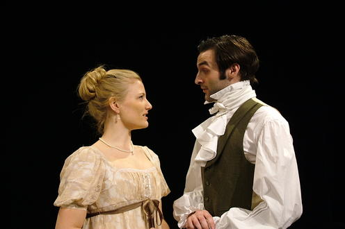 Man and woman in period clothing