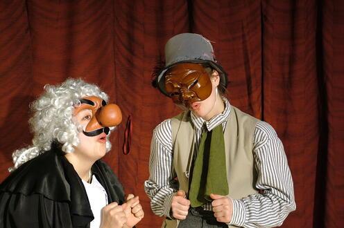 Actors in masks