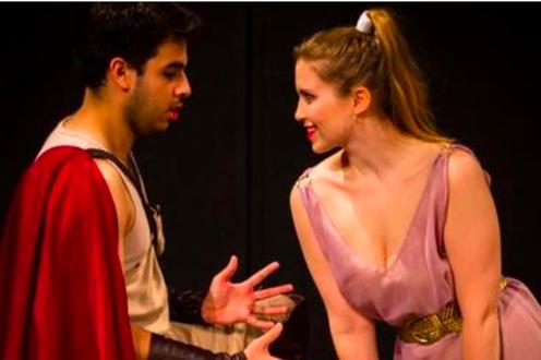 Greek woman flirts with man