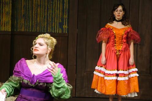 Women in bright dresses