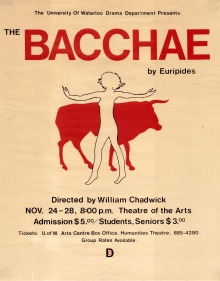 The Bacchae 1981 Poster