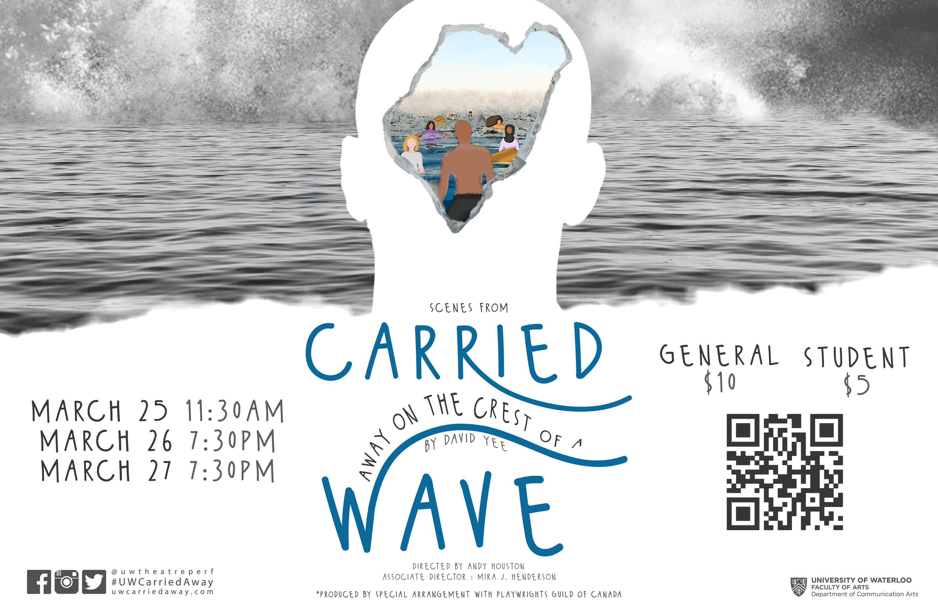 Scenes from 'carried away on the crest of a wave' official poster