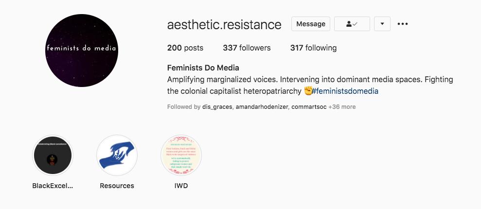 Feminists Do Media Social Media Page