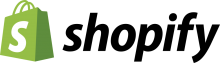 shopify logo with black text