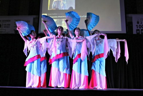 Chinese student performers at the Cultural Caravan