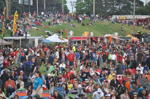 Sea of crowd at Canada Day 2015