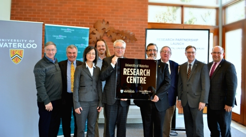 GRH CEO and President, UW President, and various community leaders at partnership announcment.