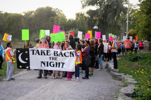 Take back the night marchers