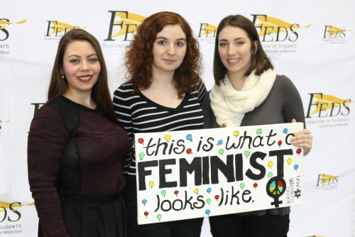 """This is what a feminist looks like"" photo event"