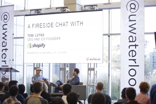 Wide photo of Fireside Chat with Tobi Lutke