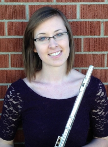 Meaghan McCracken with her flute