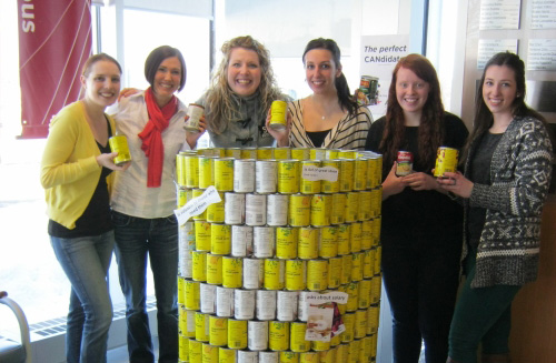 Career Centre staff with their can structure