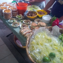 Food for sale in Guatemalan high school.