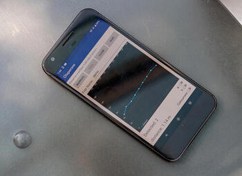 photo of smartphone running Chaperone