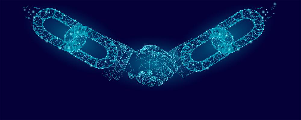graphic depicting blockchain