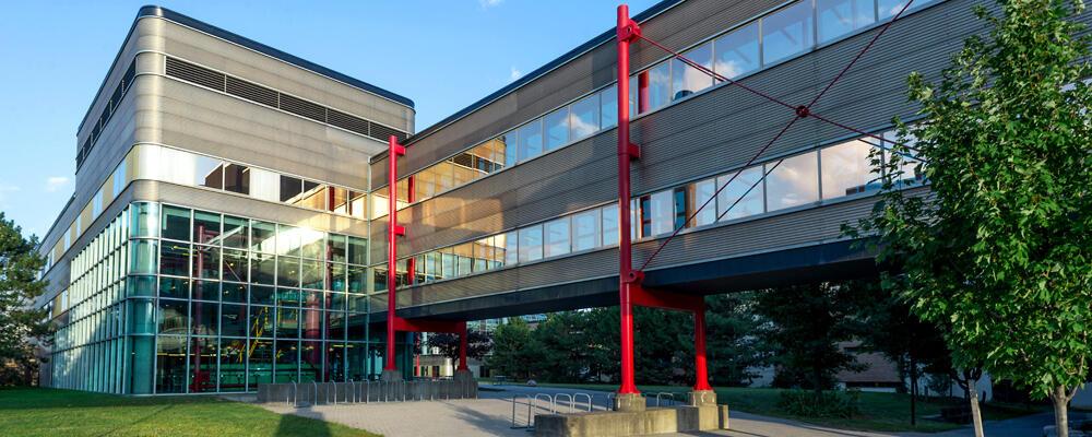 photo of the David Centre and bridge to MC building