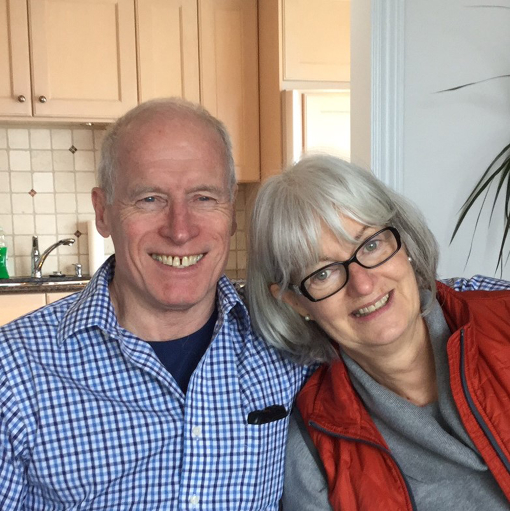 Professor Arnie Dyck and wife Louisa