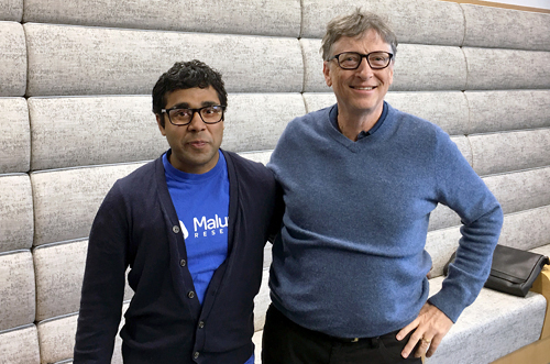 photo of Bill Gates and Sam Pasupalak