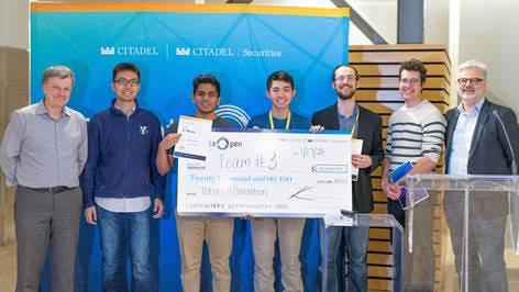 Winning students: Thomas Arab Alexander, Pranav Barot, Ryan Kinnear, Richard Wu