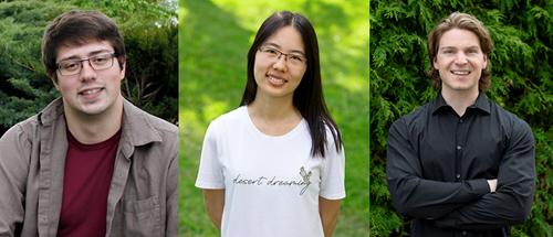 photo of Daniel Herman, Wanxin Li and Blake VanBerlo