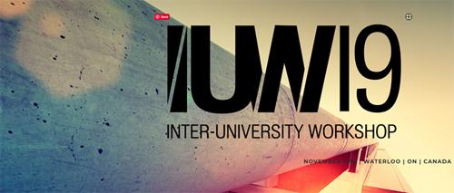 2019 Inter-University Workshop banner