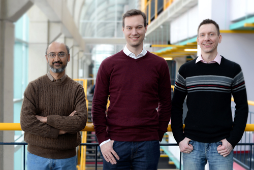 photo of Professor Srinivasan Keshav, PhD candidate Christian Gorenflo, Professor Lukasz Golab