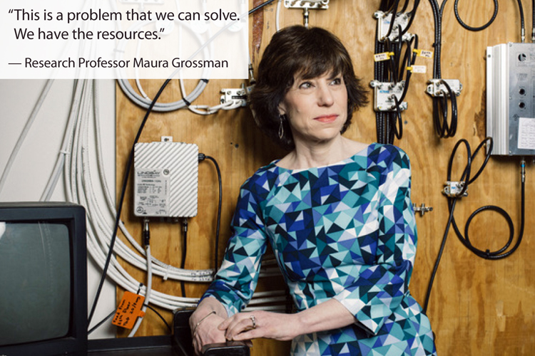 photo of Maura Grossman with quote from article
