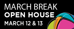 March Break Open House event logo