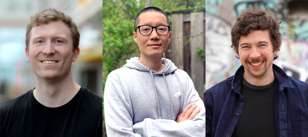 photo of Mike Schaekermann, Hong Zhou and Fiodar Kazhamiaka
