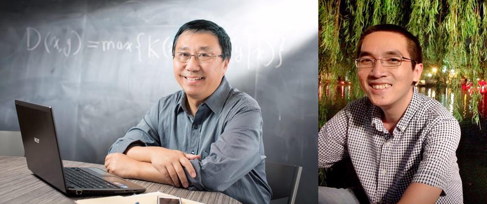 photo of University Professor Ming Li and Dr. Hieu Tran